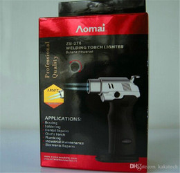 Wholesale New arrives Windproof Lighter Refill Butane Torch Lighter Tool Spray Gun Jet Flame with retail packaging DHL