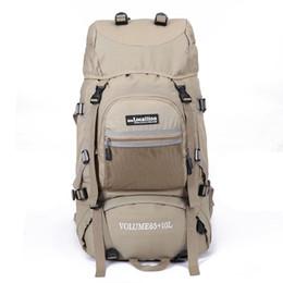 2016 New 65+10L Men's Hiking Camping Backpacks Professional Waterproof Rucksack Mountaineering bag Nylon travel Backpack