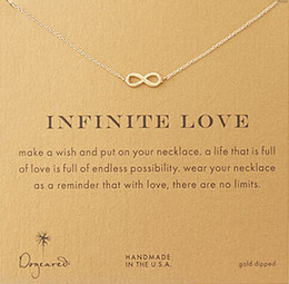 Wholesale Love Pendent Dogeared Necklace Infinite Love Noble and Delicate Jewelry Punk Choker Necklaces Classical Birthday Present