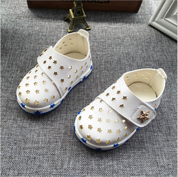 2016 summer autumn children toddler shoes baby boy hook and loop hollow out star breathable soft bottom shoes hot sale