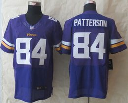 Wholesale Mens Football Jersey Soccer Rugby Jerseys Bridgewater Patterson Purple Elite Jerseys Accept Mixed Orders Best Quality