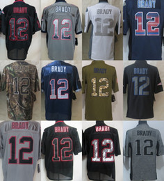 Wholesale New England TOM BRADY Black Green White Grey Salute TO Service Drift USA Flag Fashion Gridiron light out Impact Platinum Game limite Jerseys