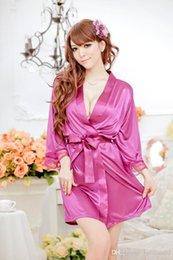 Wholesale 5 sets Sexy lingerie Mike Silk robe string set sleepwear costume sexy sleepwear hot sales