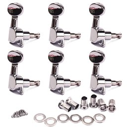 Wholesale 6R Guitar Tuning Pegs Tuners Machine Heads chrome Sunken Buttons Right Hand Chrome Finish for Acoustic Electric Guitar
