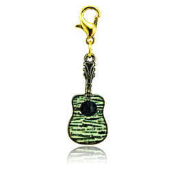 Fashion Floating Charms Gold Plated Multicolor Guitar Lobster Clasp Alloy Charms DIY Jewelry Accessories Mix Order