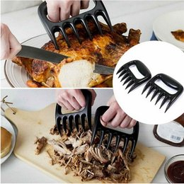 Wholesale NEW Grizzly Bear Paws Meat Claws Shredding Claws Handler Fork Chicken Pork Beef Pull Shred Kitchen Barbecue BBQ Tool