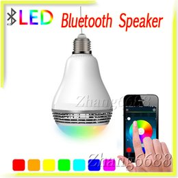 Wholesale Light Bulb Mini Speakers For Smart Mobile Phone Support Smart APP Adjust Colors Retail Package