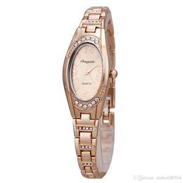 Wholesale Beautiful Chaoyada Women girl crystal thin steel metal band quartz Wrist Watch