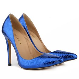 Classic Sexy Pointed Toe High Heels Women Pumps Shoes Crocodile Spring Brand Wedding Pumps Big Size 35-42 5 Color 302-1EY
