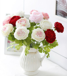 artificial flower peony top grade silk flower wedding wholesale free shipping