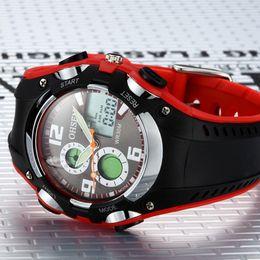 Hot sale new ohsen brand digital sport watch wristwatch childrens boys waterproof digital display silicone band fashion red watches