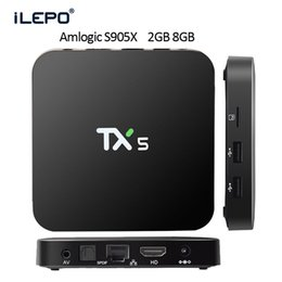 Wholesale Smart Android TV BOX Amlogic S905X TX5 KODI pre installed G G Quad core WIFI Streaming Box support K H Hardware Video Decode