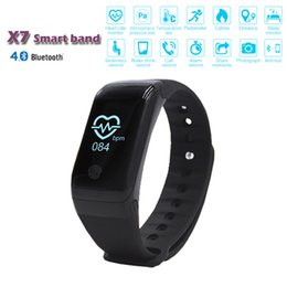 Wholesale X7 Bluetooth Smart Bracelet Wristband With Blood Pressure Heart Rate Measurement Pedometer Fitness Tracker Support Sensor Band