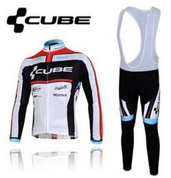 Wholesale Online Cube Cycling Jerseys Outdoor Cycle Clothings Full Sleeve Cycling Jersey Camping Sportswear Bib Shorts Ropa Ciclismo