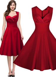 Free shippingWomen's 1950's Rockabilly Vintage Evening Party Tea Dresses Swing Skater Ball Gown Cocktail Party dress 3237