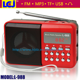 Wholesale Home Audio Video Equipments Radio L portable FM digital radio digital mini speaker music MP3 player with radio support