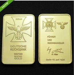 Wholesale Rare ounce gold plated Germany Empire Bank SIGNATURE Building bullion bar UNIQUE NEW