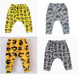 2016 INS Boys Girls Baby Harem Pants Clothing Spring Autumn Elastic Cotton Leggings Cartoon Animals Cloud Printed Trouser Newborn Clothes
