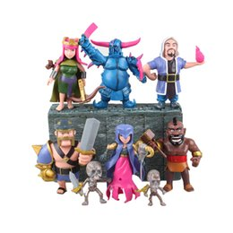 Wholesale Prettybaby Clash of Clans set cm Barbarian King Archer Queen PVC Dolls Model Toys Action Figures children s COC gifts Pt0319
