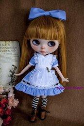 Wholesale 2016 New Blyth4 Doll Blue Alex Dress Set for Neoblythe Doll Blythedoll Accessories for set Doll Dress