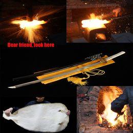 Wholesale Japanese Handmade katana samurai sword T10 steel Full Tong Sharp Hard Cover burning blade To fake something antique