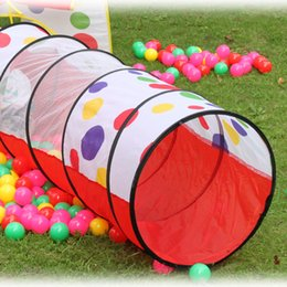 Wholesale 180x50cm tunnel Outdoor Fun Sports Lawn Tent Kids Play Game House Pool Children Tent Ocean Ball Pool Baby Educational Toys