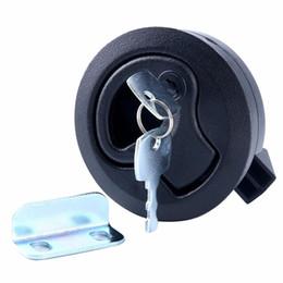4PCS Push-to-Close Slam Latch Hatch Flush Pull W Lock 1 2'' Door Deck For Boat Marine
