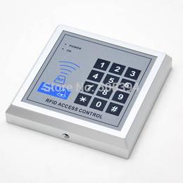 Rfid clave cerraduras de las puertas en Línea-Seguridad RFID Proximidad Entrada Puerta Cerradura Sistema de control de acceso 500 User +10 Keys