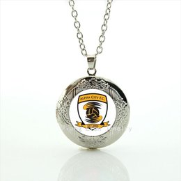 Wholesale Exquisite men and boys gift jewelry locket necklace Alpha city f c rugby football picture glass cabochon accessory NF032