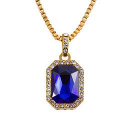 Wholesale Brand Fashion Design Punk Rock Micro Pendant Long Necklace Hip Hop Rap Jewelry k Gold Plated Hip Hop Chain Necklaces For Men