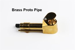 Wholesale Brass Proto Smoking Pipe Metal Inch Portable Pipes Golden Color China Direct Ultimate Tool Tobacco Oil Herb Hidden Bowl