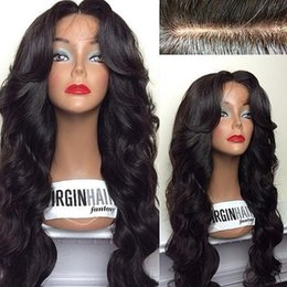 Body Wavy Human Hair Glueless Full Lace Wigs with Natural Hairline 4*4 Silk Top Full Lace Wigs with Baby Hair Around in Stock