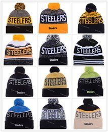 Wholesale Heather Gray Football Pittsburgh Beanies Winter High Quality Steelers Red Beanie For Men Skull Caps Skullies Knit Cotton Hats On Field