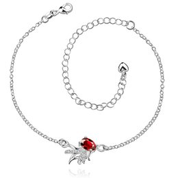 fashion silver Zircon Europe and the United States sell lovely personality goldfish ms ladies anklets Adjustable Chain