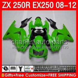 Wholesale green black gifts Body For gloss gre KAWASAKI NINJA ZX R EX250 NO26 ZX250R ZX EX R Fairing