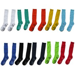 Wholesale kids boys girls children Solid thick soles long football skiing runing team bowling Skyblue long Sports socks suit for years