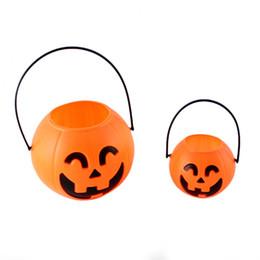 Wholesale 7cm Pumpkin lamp bar decoration halloween party supplies creative plastic halloween pumpkin buckets halloween pumpkin lights the best gifts