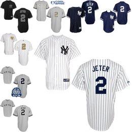 Wholesale Grey black white navy Derek Jeter Authentic Jersey Men s Majestic New York Yankees Name On Back