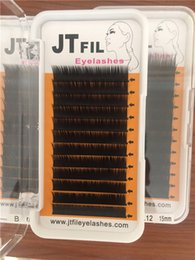 Wholesale Eyelashes Extension J B C Cc D DD mm mm trays very soft and best quality Lines