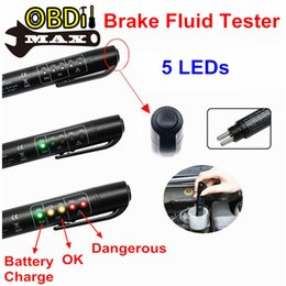 Wholesale Best Brake Fluid Tester Mini Electrical Test Tool Brake Liquid Testing Pen Check Car Oil Quality LED Indicators Auto Power Off