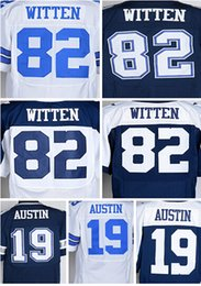 Wholesale 2016 Drop Ship Elite Austin Witten White Blue Name Number Logo Stitched Mens Jerseys Mix Order Accept