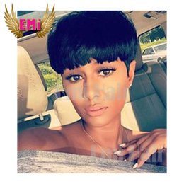 Wholesale Brazilian hair lace wig straight Pixie Cut cheap wigs short human hair wigs full density front bob lace wigs for black women new arrival