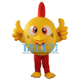 Yellow Chicken Mascot Costume Adult Size Fancy Dress Cartoon Costume