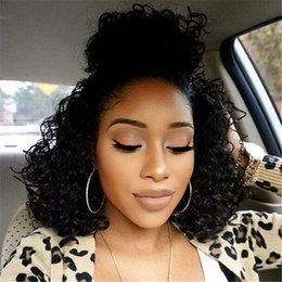 Full Lace Human Hair Wigs Curly For Black Women Brazilian Deep Curly Front Lace Wigs Glueless Lace Front Human Hair Wigs