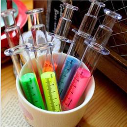 Syringe Highlighter pen Fluorescent Marker pen Luminescent pen Stationery Office School supplies OP018