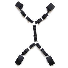 Under Bed Restraints Adult Sex Product for Couple Ankle Wrist restraint Bondage Harness Nylon Belt
