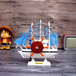 Wholesale wooden sailing ship music box handicrafts gift boutique office desktop decoration interesting birthday gift for friends