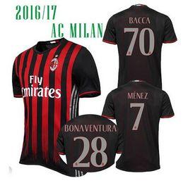 Wholesale Thailand Quality Season AC Milan Soccer Jerseys Football Jerseys Menez HONDA Romagnoli Bonaventura Bacca Bertolacci