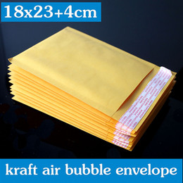 Burbuja de papel kraft en Línea-50PCS 18x23 + 4cm color amarillo / impresión de papel de la burbuja del papel de la burbuja del envoltorio / de los bolsos wthout