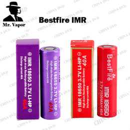 Wholesale Vaporizer Bestfire IMR Battery mAh mah mah Best Fire Vape Batteries Red Purple Colors Fit Wismec Reuleaux RX200S RX200